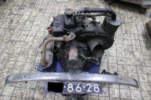 Fiat 500 motor en versnellingsbak