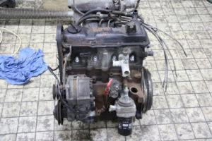 VW GOLF GTI Motor, versnellingsbak en Spaghetti uitlaat